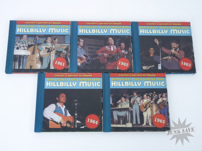 Lot of 5 Hillbilly Music CDs 1961-1965 Bear Family Records