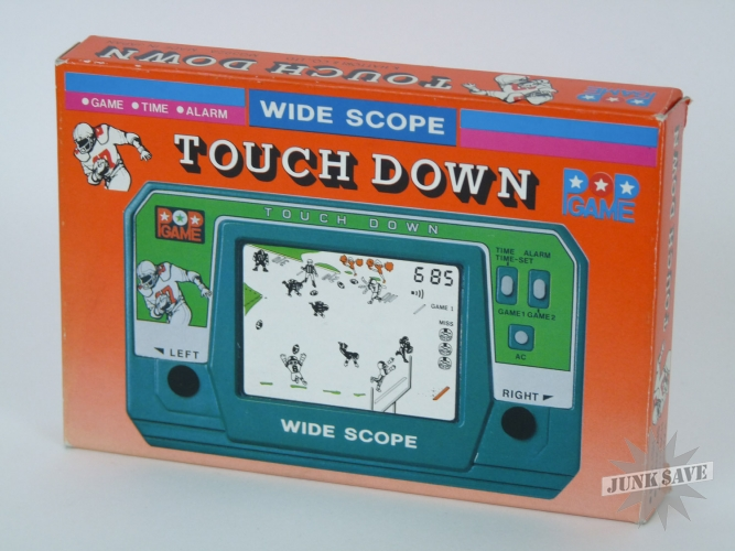 Morioka Tokei Touch Down Football LCD Electronic POP Game MG-392 Minty