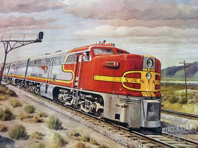 Vintage Railroad Poster 19