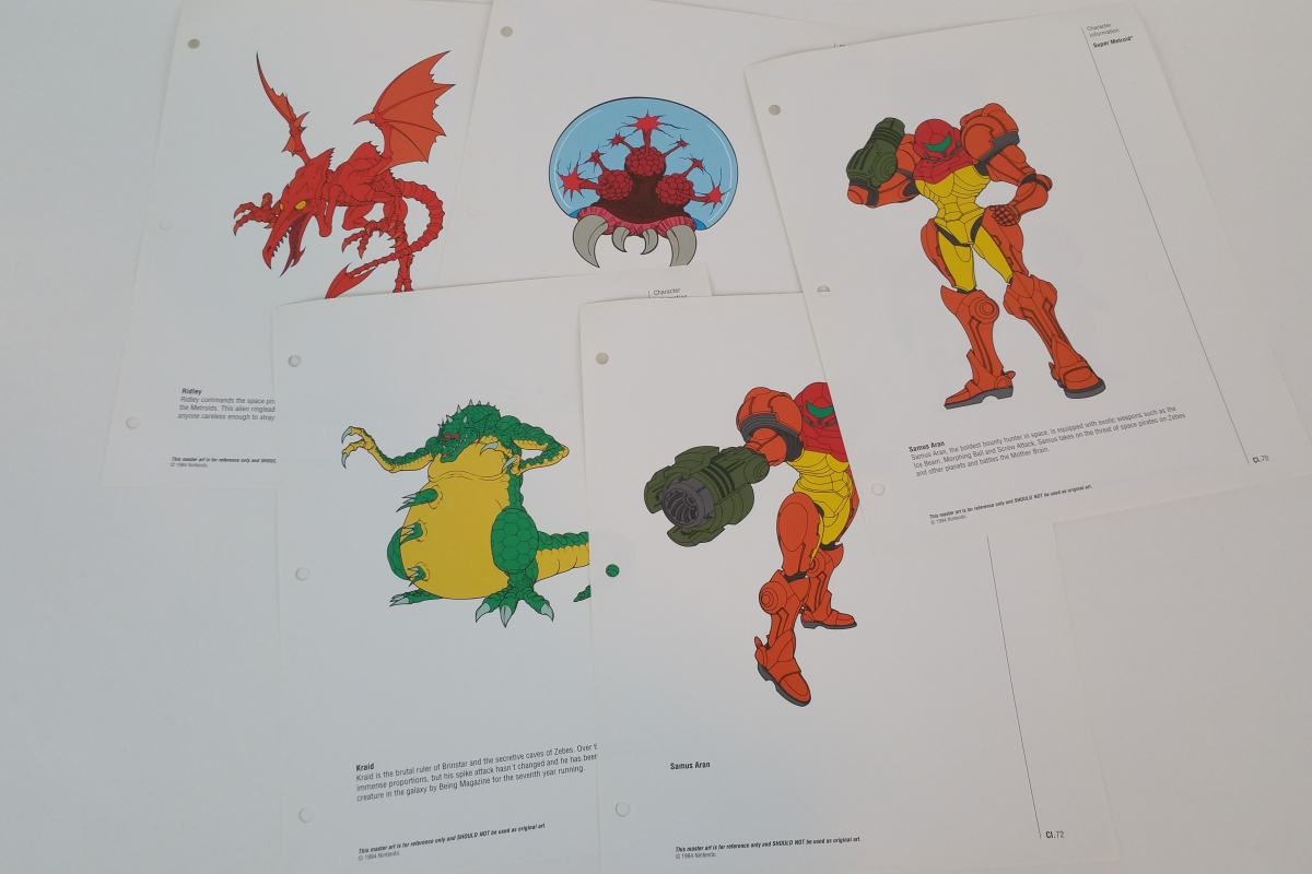 Super Metroid Official Nintendo Character Information Reference Sheets