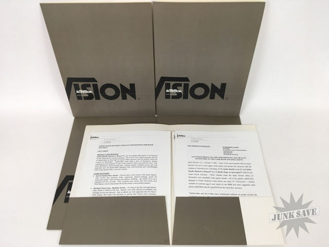 Activision Official Documents Lot Spider-Man X-Men PS1 GBA N64