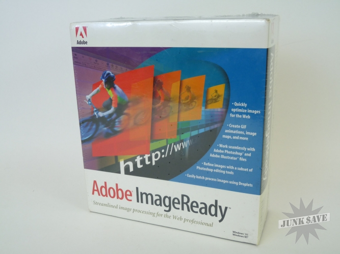 Adobe ImageReady Version 1.0 SEALED for Windows