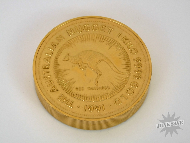 Gold Plated Australian Red Kangaroo Paperweight 1991