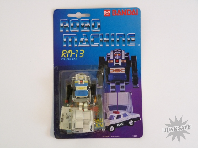 Bandai Robo Machine RM-13 Police Car Gobot Transformer Action Figure