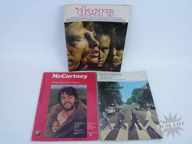 Beatles Mccartney Doors Vintage Music Book Lot 3 Hansen Publications