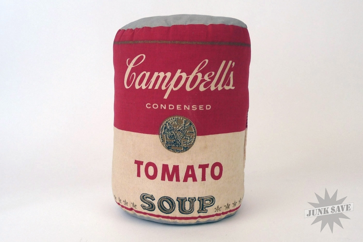 Campbell's Soup Can Pillow 1960s