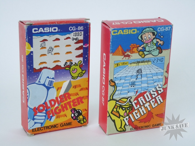 Lot Casio CG-86 CG-87 Cross and Solder Fighter LCD Game Boxed