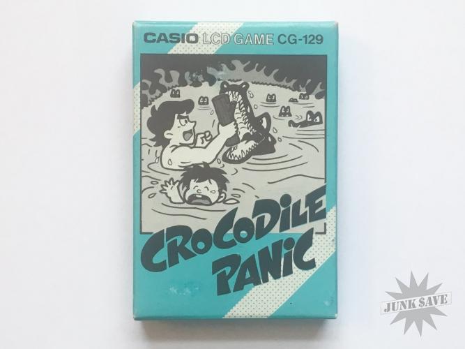 Casio LCD Crocodile Panic CG-129 Handheld Game NOS