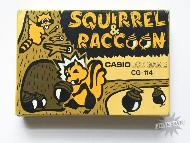 Casio LCD Squirrel Raccoon CG-114 Handheld Game NOS