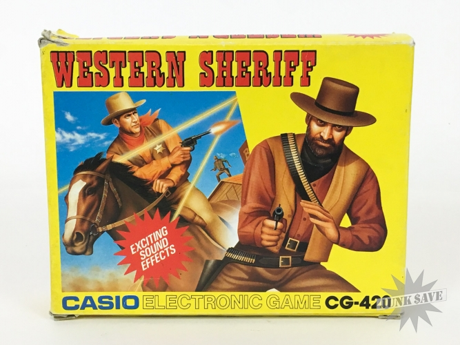 Casio Western Sheriff LCD Electronic Game Watch CG-420 NOS