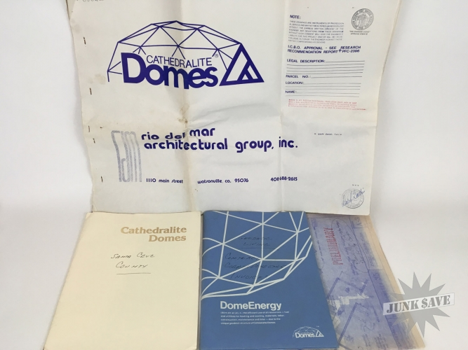 Vintage 1979 Cathedralite Geodesic Dome House Plans Blueprints ...