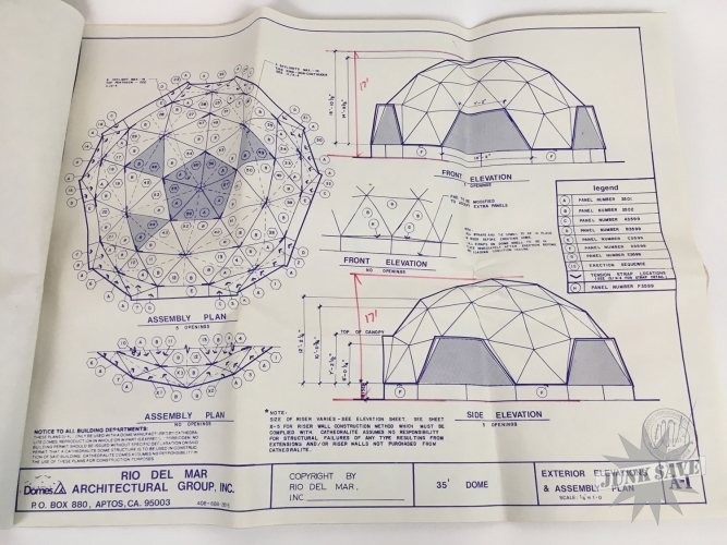 Vintage 1979 cathedralite geodesic dome house plans for Geodesic home plans
