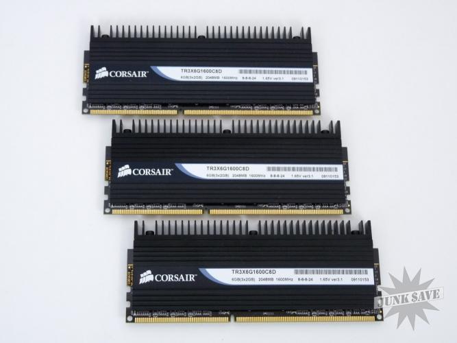 Corsair Gamer RAM Dominator Set of 3 Total 6GB DDR3 1600Mhz TR3X6G1600C8D