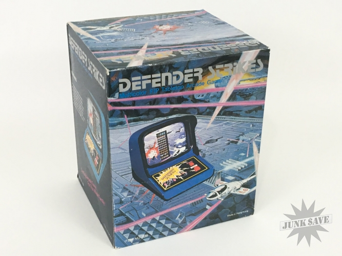 Defender Strikes Vfd Tabletop Game Hong Kong Blue Rare New Old Stock Space Invaders