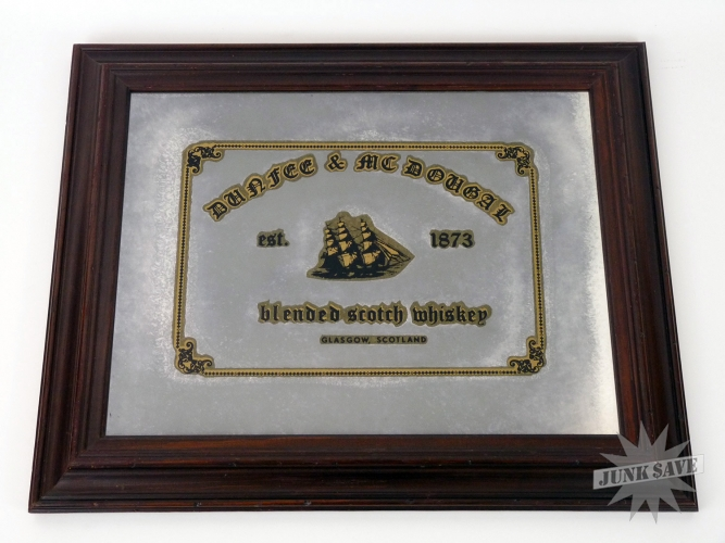 Dunfee Mcdougal Scotch Whiskey Mirror Framed Picture