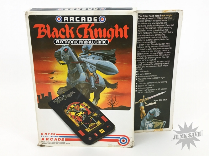 Entex Black Knight LED Pinball Handheld Game 1982 Boxed