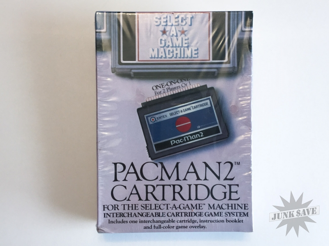 Sealed New Entex Pac-Man 2 Select-a-Game Machine Cartridge