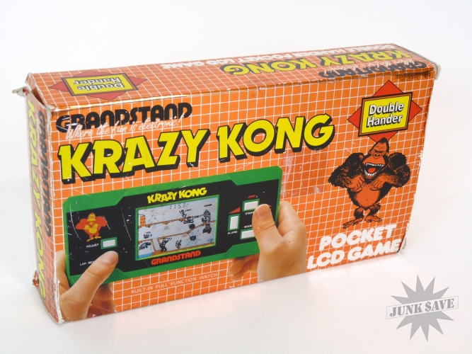 krazy kong lcd handheld game watch rare widescreen by grandstand
