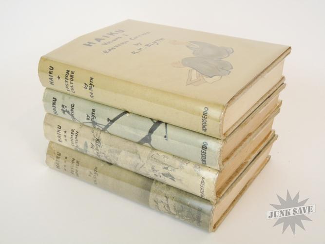 Haiku 4 Volume Set By RH Blyth Vintage Cloth Hardcover
