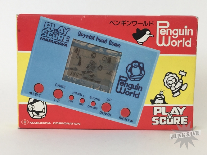 Masudaya Penguin World LCD Play & Score Game Watch New