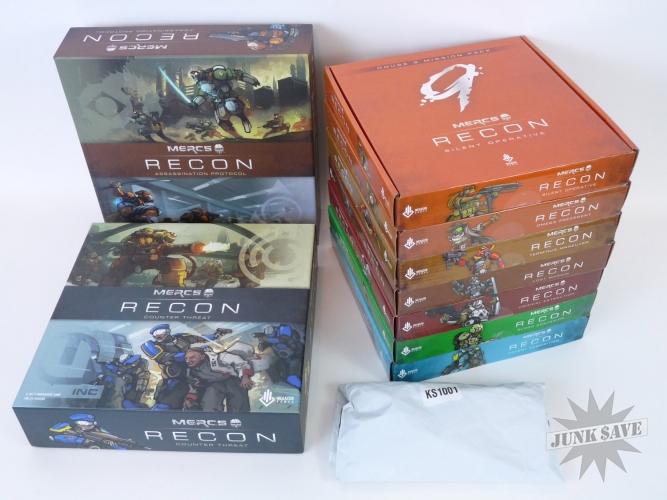 Mercs Recon Kickstarter Set Base Games and Mission Packs