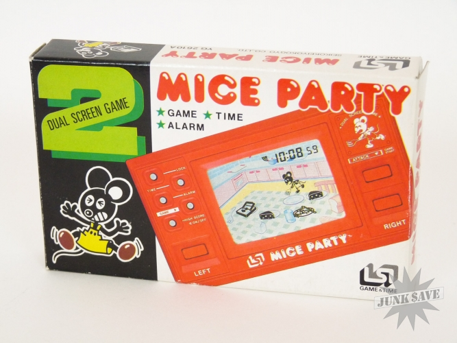 Mice Party Game Watch Morioka Tokei YG 2610A Dual Screen LCD New