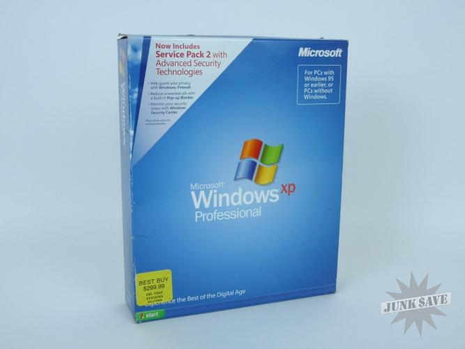 Microsoft Windows XP Professional SP2 English NEW SEALED   JunkSave