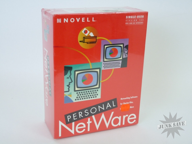 Novell Netware Personal Edition 1.0 SEALED Vintage
