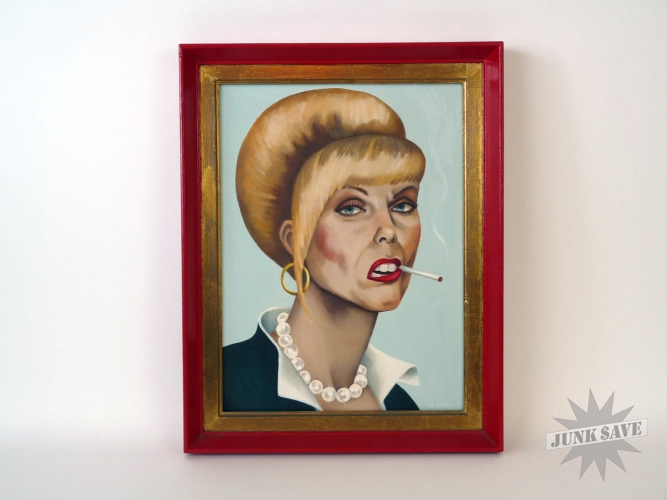 Pats Portrait Absolutely Fabulous Oil Painting