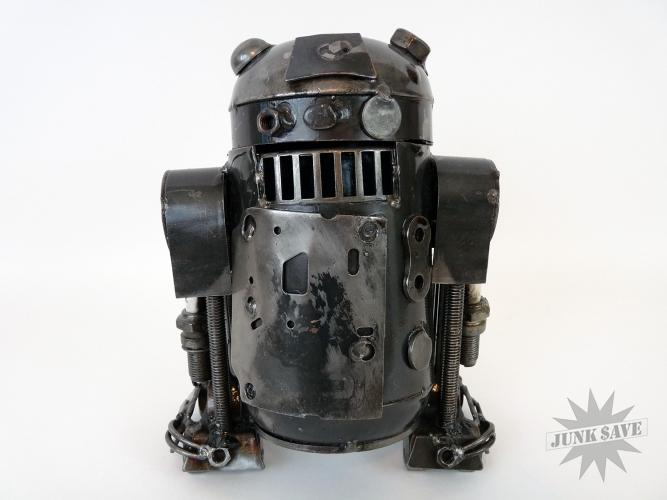 R2D2 Droid Scrap Metal Sculpture Tabletop Steampunk