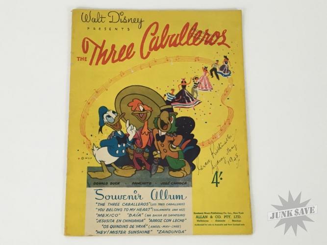 Three Caballeros Souvenir Album Australia 1944 Southern Music Publishing