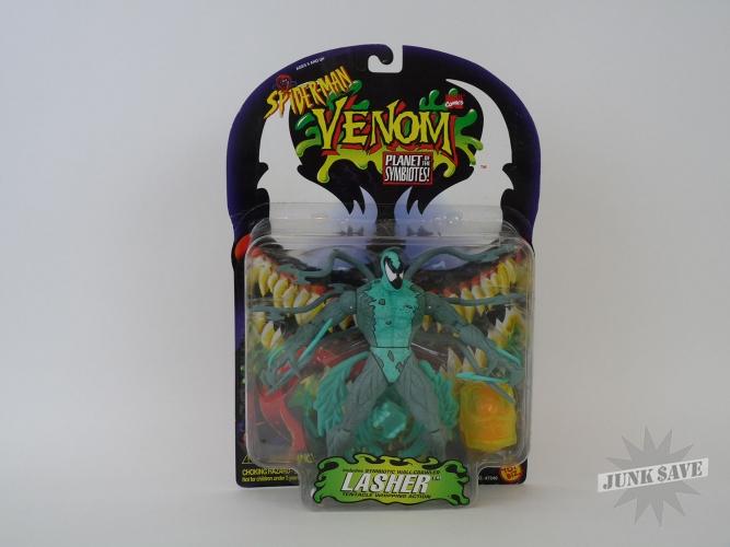 Spiderman Action Figure Venom Lasher Planet of the Symbiotes Toy Biz