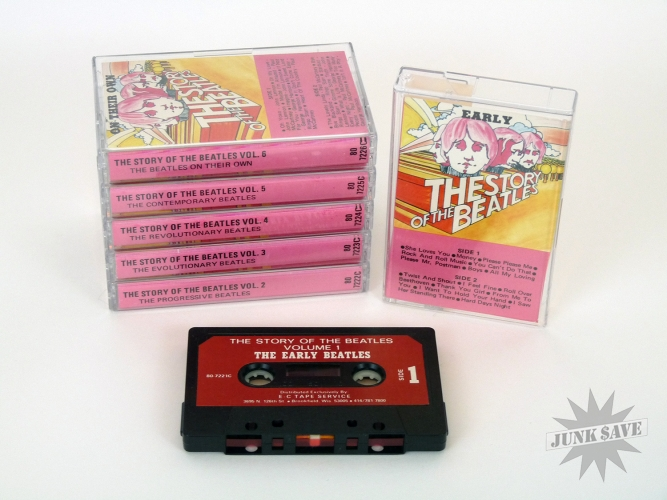 The Beatles Cassette Tapes The Story Of The Beatles E C Tape Service 6 Volume Set