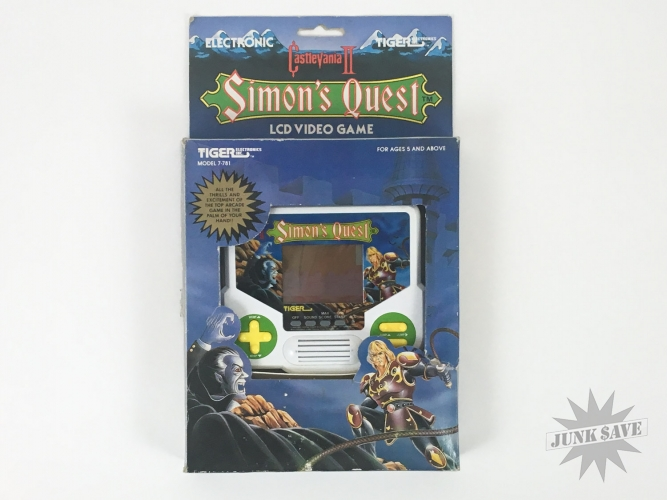 Boxed Tiger Castlevania II Simons Quest LCD Handheld Game