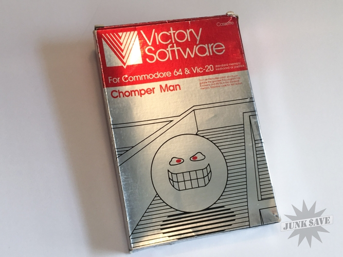 Chomper Man Cassette Game By Victory Software Commodore 64