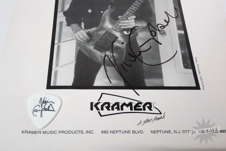 SIGNED Vivian Cambell Kramer Guitar Photo Pick Def Leppard Dio GUARANTEED