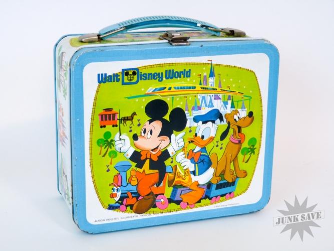 Metal Lunchbox Walt Disney World Aladdin Vintage 70s