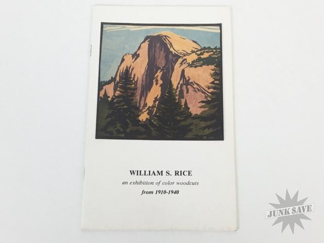 William S Rice Woodcut Print Exhibition Catalog 1984
