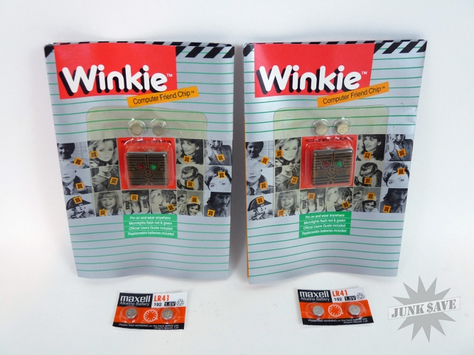 Pair of LED Winkie Computer Friend Chips by XTRONX