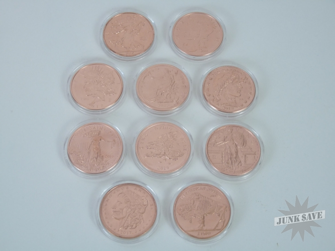 Zombucks Copper 1oz Complete Set of 10 Currency Of The Apocalypse