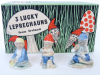 3 Lucky Leprechauns Wade Porcelain Figurines With Box Ireland