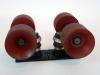Vintage ACS-500 Skateboard Trucks With OJ Wheels