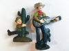 Wood Box Cast Iron Bottle Openers Western Cowboy Theme