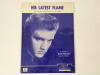 Elvis Presley His Latest Flame Original Sheet Music 1961