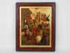 Gold Leaf Painting Adoration Of The Magi Byzantine Reproduction