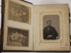 Leather Photograph Album 17 Tintypes 26 CDVs Civil War 1860s Face Book
