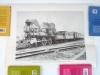 5 Vintage Railroad Posters Union Pacific Sante Fe Train