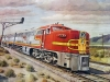 5 Vintage Railroad Posters Union Pacific Sante Fe Train
