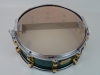 Yamaha Maple Custom Snare Drum Green with Gold Lugs
